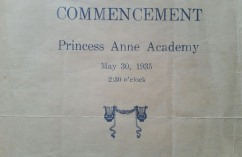 Princess Anne Academy Commencement